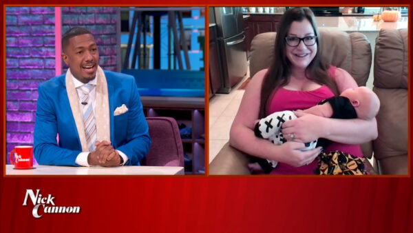 Nick Cannon and Cary Patonal and her baby